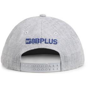 8BPLUS Logo Snapback, grey melange/print